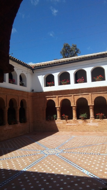 A courtyard in the monastery