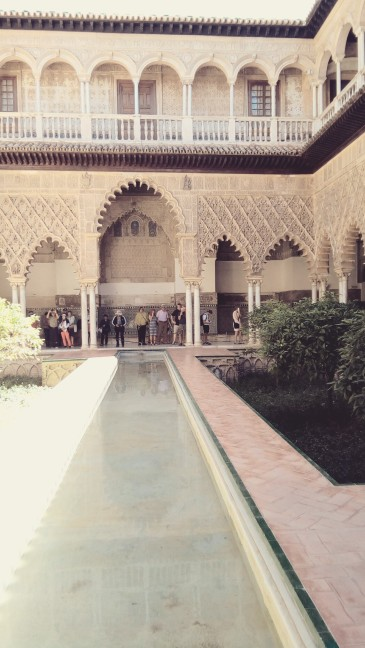 A courtyard inside the Alcazar