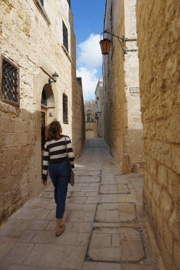 Wandering the streets of Mdina